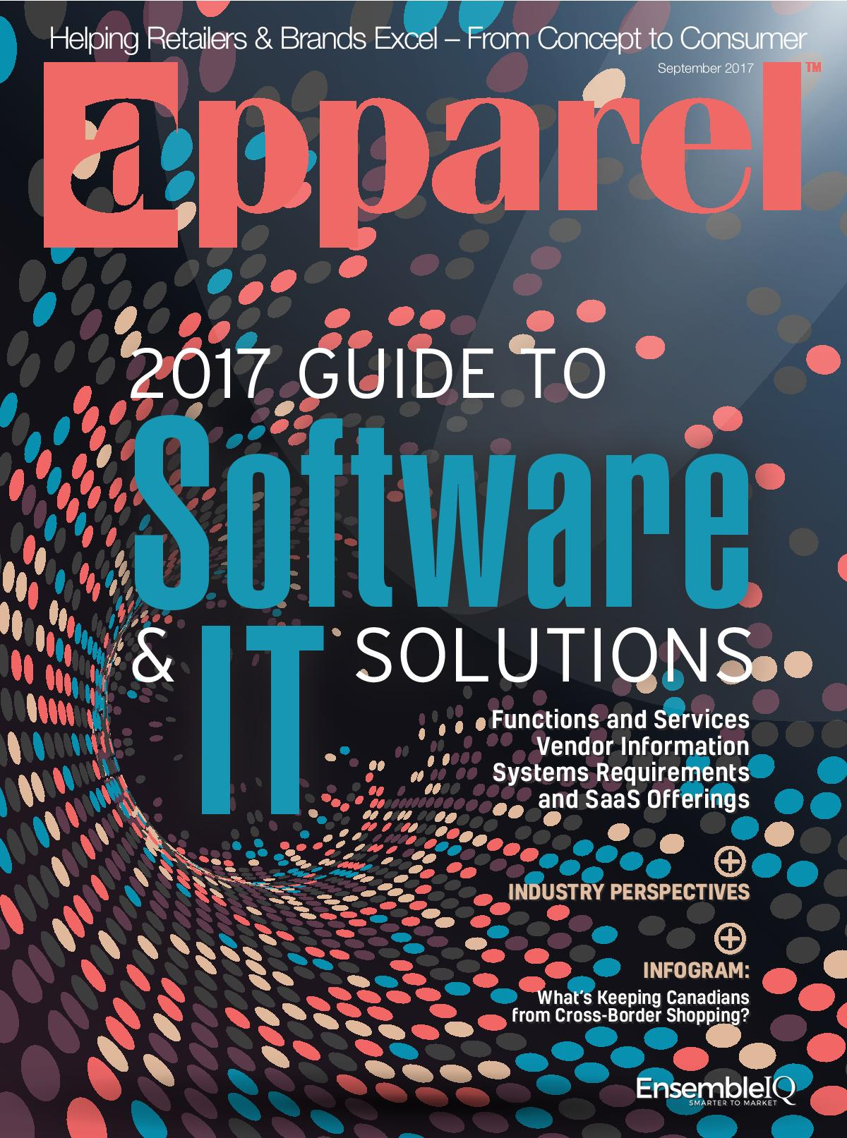 Apparel Magazine's September 2017 issue focusing on IT and software solutions for fashion enterprises.