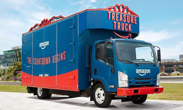 Amazon Treasure Truck serves up surprises and an engaging experience for customers.