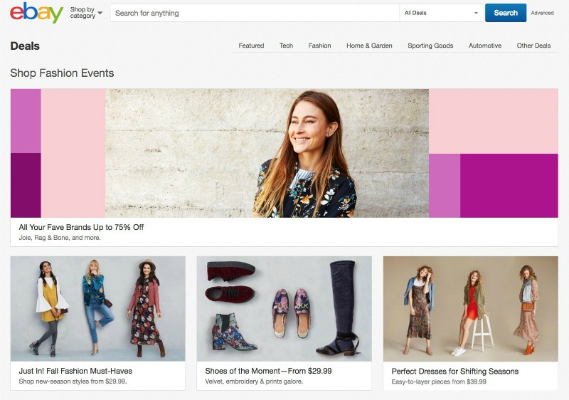 Spring, a top online retail destination, is giving eBay shoppers access to hundreds of brands across clothing, shoes, accessories, jewelry, beauty and more, including coveted merchandise fromDavid Yurman, Rag & Bone, Mango and Chloe.
