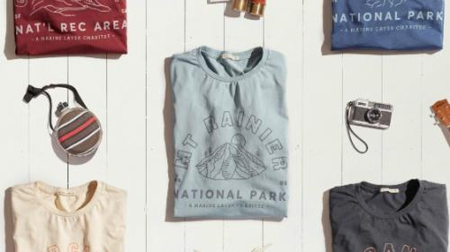 San Francisco based Marine Layer is staying true to its roots by collaborating on a special collection of tee shirts, with custom graphics, that will support the National Park Foundation.