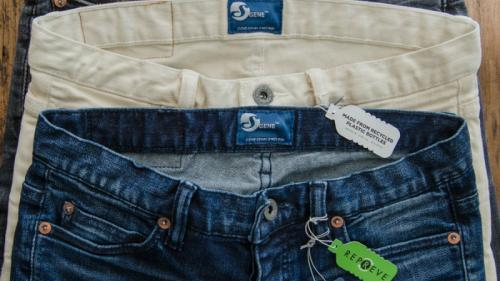 Cone Denim and Unifi, Inc. unveiled the latest in advanced stretch technology: S GENE® with REPREVE®.